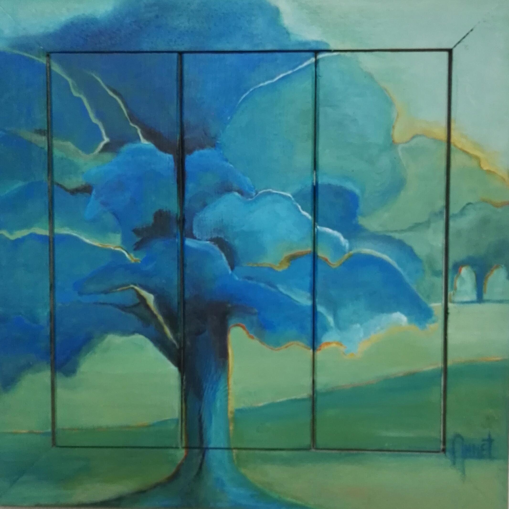 Blue Tree 53 x 53cm